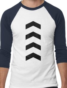 These Chevrons Point in One Direction Men's Baseball ¾ T-Shirt