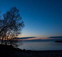 Lake Ontario Blue Hour by Georgia Mizuleva