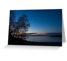 Lake Ontario Blue Hour Greeting Card