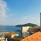 Dubrovnik, The Dominican Monastery Bell Tower and Harbor by kirilart