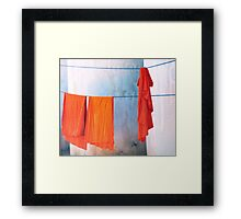 Monk robes  Framed Print