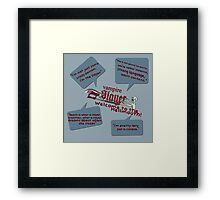 Hellmouth Quotes Framed Print