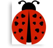 ladybug love. Canvas Print