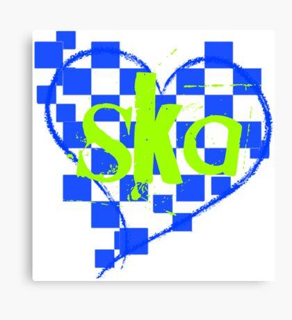 ska : checkered heart Canvas Print