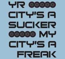 Yr City's A Sucker - LCD Soundsystem Black One Piece - Short Sleeve