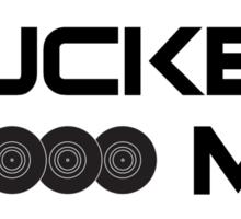Yr City's A Sucker - LCD Soundsystem Black Sticker
