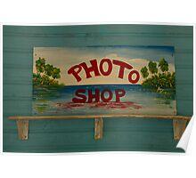 Photo Shop - Version La Dominica © Poster
