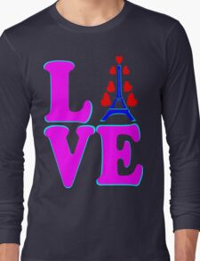 •°♥§Love Paris-Eiffel Tower Fabulous Clothing & Stickers§♥°• Long Sleeve T-Shirt