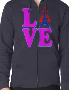 •°♥§Love Paris-Eiffel Tower Fabulous Clothing & Stickers§♥°• Zipped Hoodie