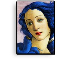 Birth Of Venus In Blue Canvas Print
