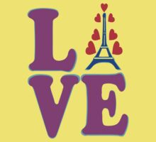 •°♥§Love Paris-Eiffel Tower Fabulous Clothing & Stickers§♥°• One Piece - Short Sleeve