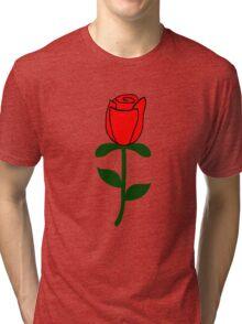 Red Rose Tri-blend T-Shirt