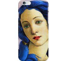 Birth Of Venus In Blue iPhone Case/Skin