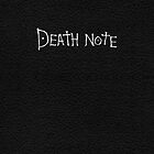 Death Note iPhone / iPad by Lynn Lamour