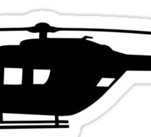 BK117 Helicopter Design in Black on a Sticker/T-Shirt Sticker