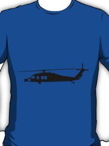 Blackhawk Helicopter Design in Black on a Sticker/T-Shirt v3 T-Shirt