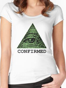 Illuminati Confirmed Women's Fitted Scoop T-Shirt