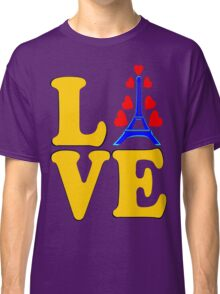 •°♥§Love Paris-Eiffel Tower Fabulous Clothing & Stickers§♥°• Classic T-Shirt