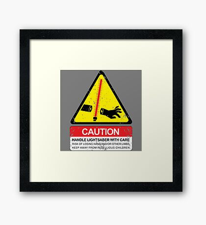 CAUTION: Handle With Care Framed Print