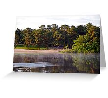 Bald Eagle and Great Blue Heron at Harry Wright Lake Greeting Card