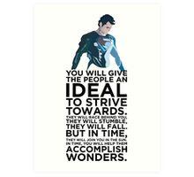 Superman Typography  Art Print