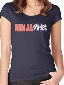 Ninja Gaiden Logo Women's Fitted Scoop T-Shirt