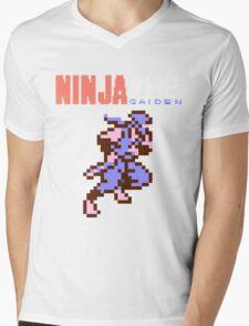 Ninja Gaiden's Ryu with Logo Mens V-Neck T-Shirt