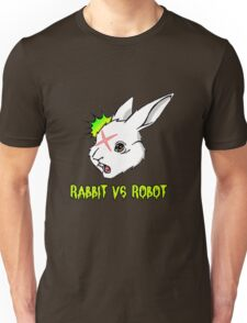 RABBIT vs ROBOT Smudgey with Title Unisex T-Shirt