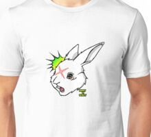 RABBIT vs ROBOT Smudgey w/ small title Unisex T-Shirt