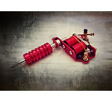Tattoo gun Photographic Print
