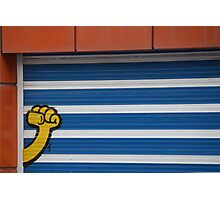 Kripoe blue stripes Photographic Print
