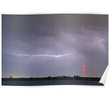 Lightning Bolting Across the Sky Poster