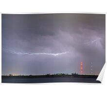 Lightning Bolting Across the Sky Poster
