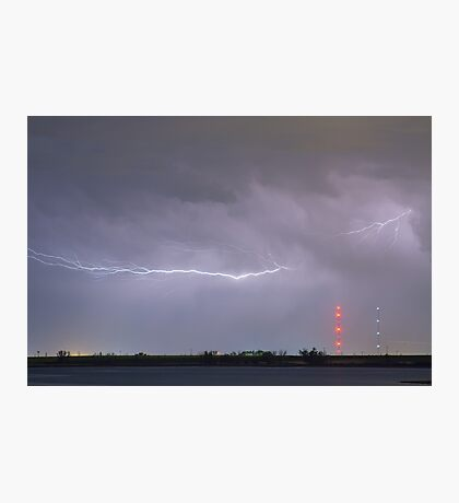 Lightning Bolting Across the Sky Photographic Print