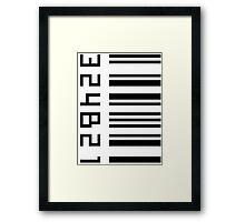 Cosima's barcode  Framed Print