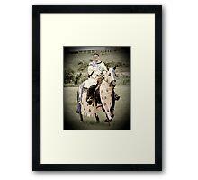 Medieval Equestrian Framed Print