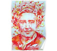 AGATHA  CHRISTIE watercolor portrait Poster