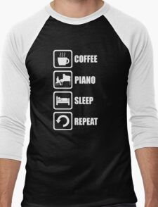 Funny Piano Coffee Sleep Repeat T-Shirt