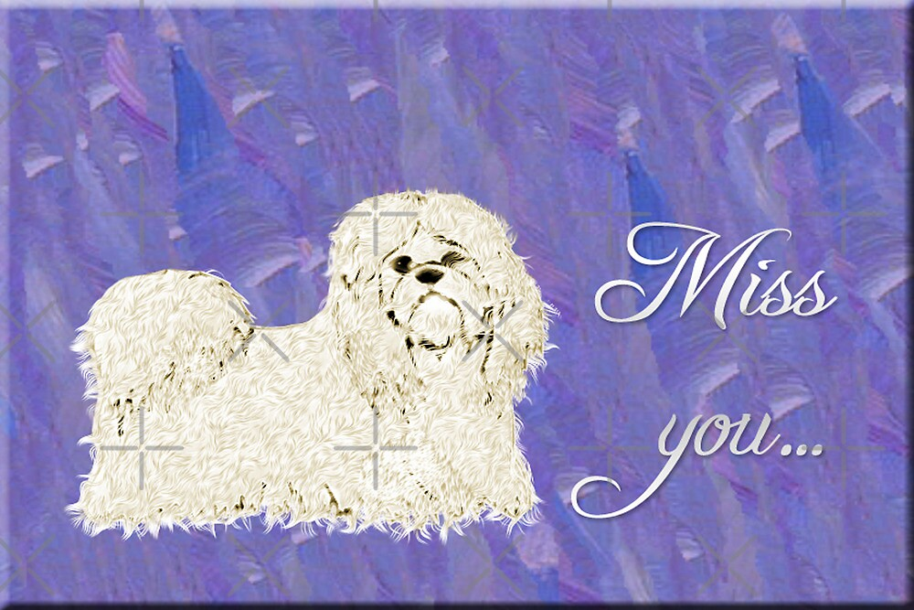 Miss You Note Card by Vickie Emms