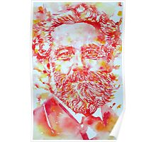 JULES VERNE watercolor portrait Poster