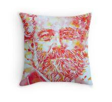 JULES VERNE watercolor portrait Throw Pillow
