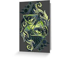 Two Eyes Greeting Card