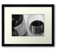 A red wine a day, keeps the doctor at bay.... Framed Print