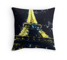 Eiffel Tower and The Stars Throw Pillow