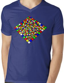 Illusion Cube  Mens V-Neck T-Shirt