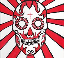 The Day of the Dead Mexican skull painting by Fangpunk