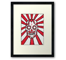 The Day of the Dead Mexican skull painting Framed Print