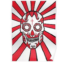 The Day of the Dead Mexican skull painting Poster
