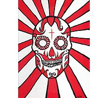The Day of the Dead Mexican skull painting Photographic Print
