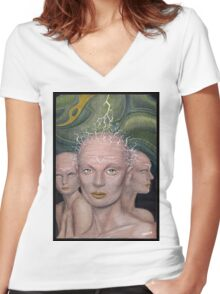 Icon 04 Women's Fitted V-Neck T-Shirt